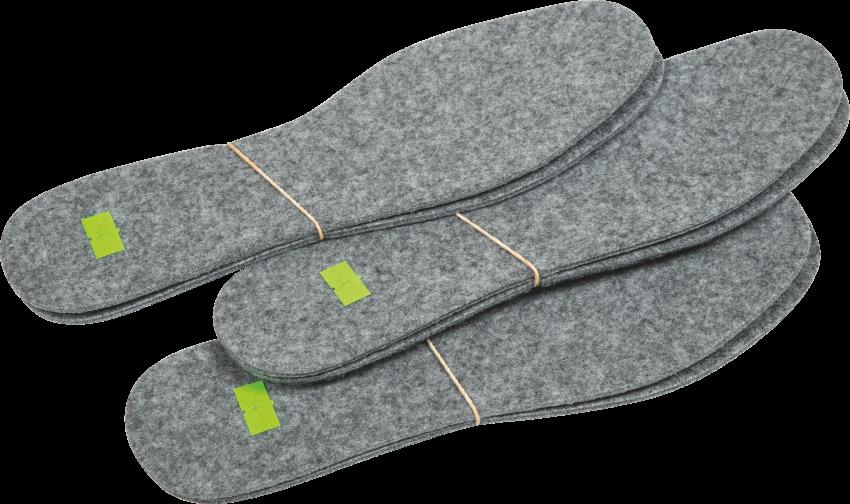Wkładki do butów filc